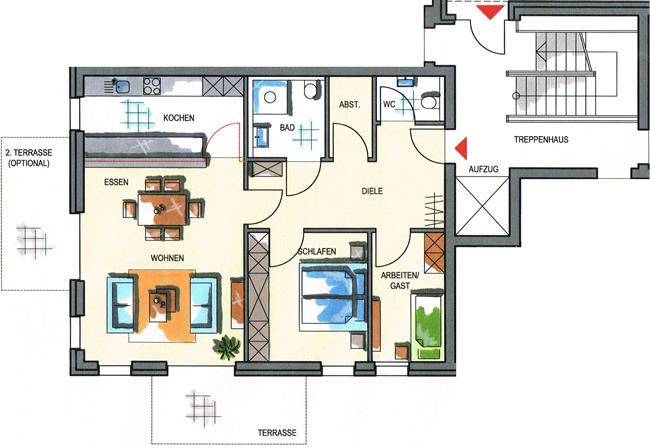 Haus 1 - Wohnungstypen