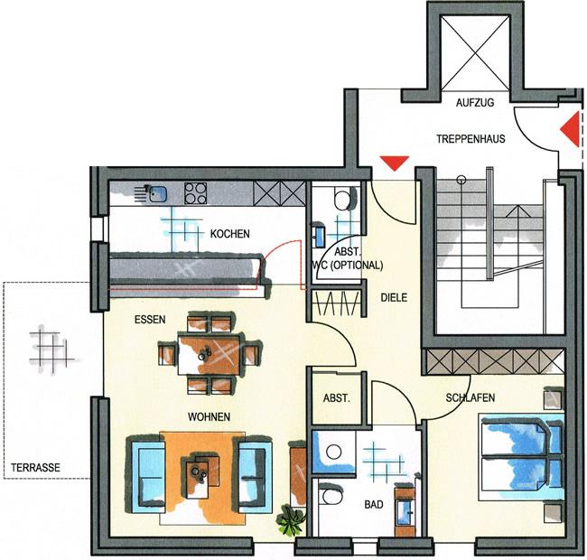 Grundriss haus 2 wohnung 2 2 und wohnung 2 4 7498 m²