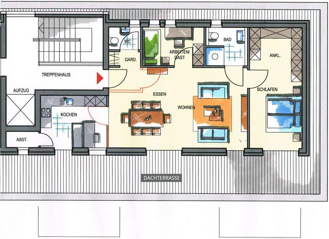 Haus 1 Wohnungstypen
