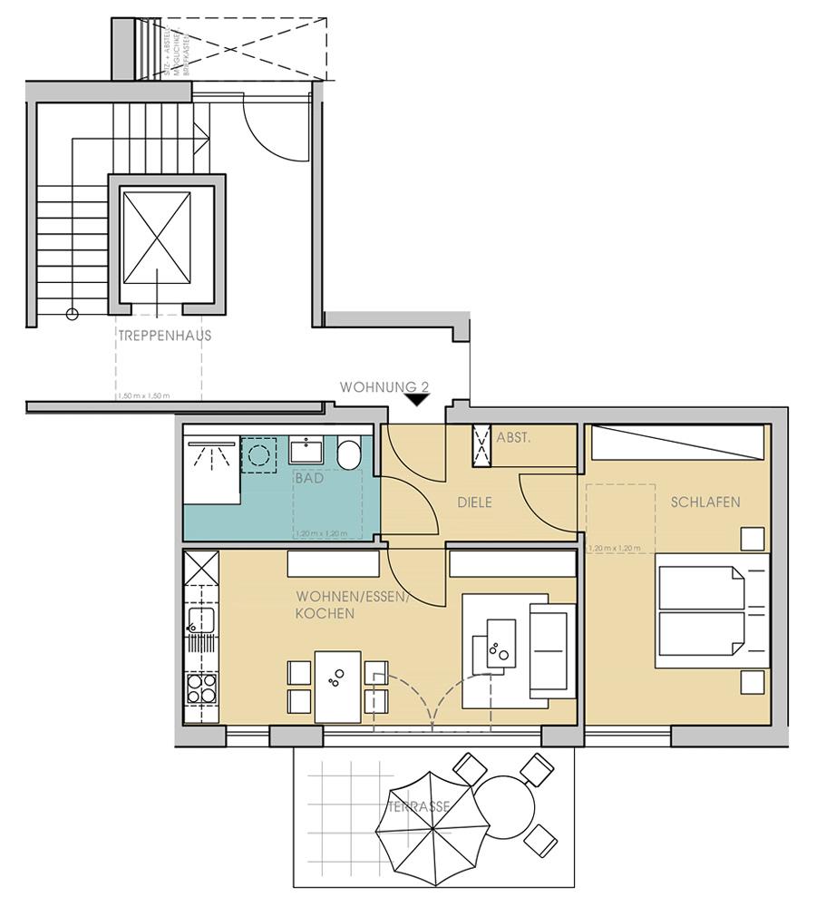 eg wohnungstypen service wohnen in quelle. Black Bedroom Furniture Sets. Home Design Ideas