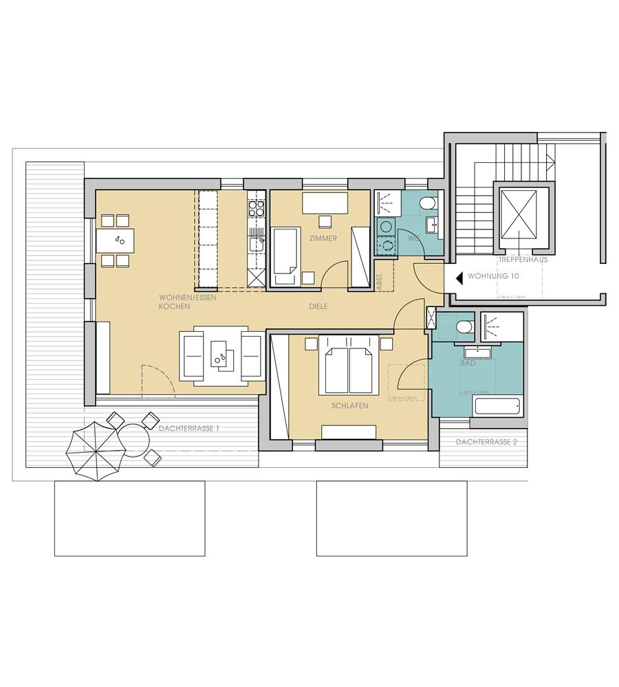 2 og wohnungstypen service wohnen in quelle. Black Bedroom Furniture Sets. Home Design Ideas