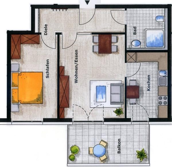 haus 2 wohnungstypen. Black Bedroom Furniture Sets. Home Design Ideas